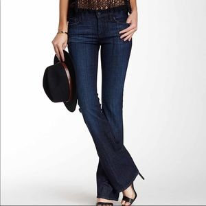 The high waisted boot cut jean